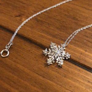 Jewelry - 10 karat white gold snowflake necklace.